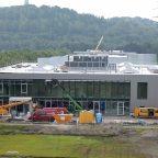 Baufortschritt an Brennstoffzellenfabrik